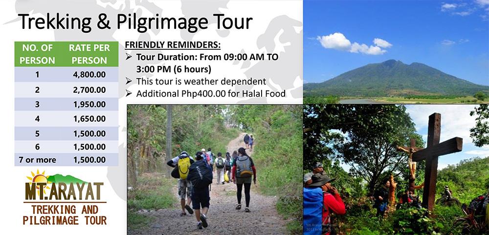 Mt. Arayat Tour Rates