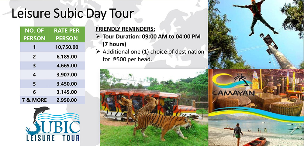 subic-leisure-tour-rates