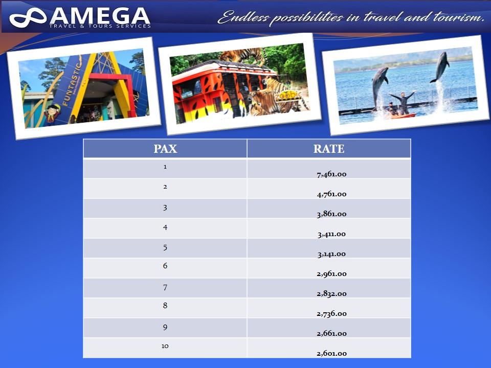 Subic Theme Parks Rates