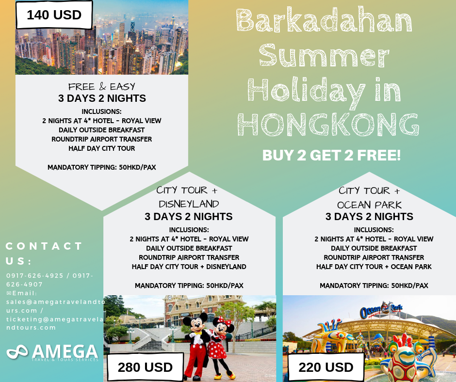 Barkadahan Summer Holiday in Hongkong