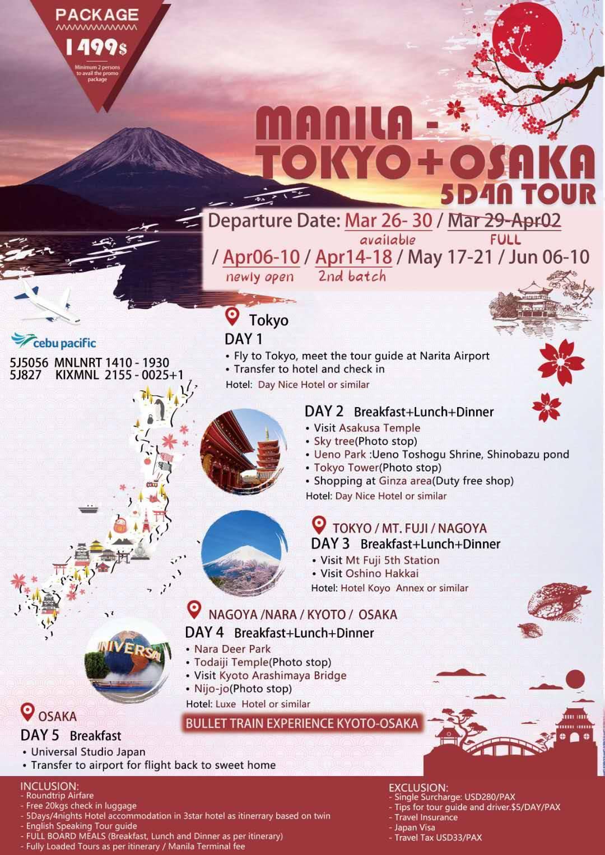 Tokyo + Osaka (Out Manila)