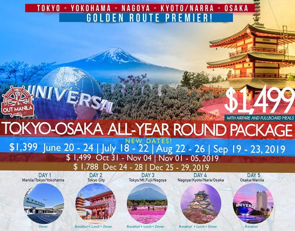 Tokyo Osaka All Year Round Package