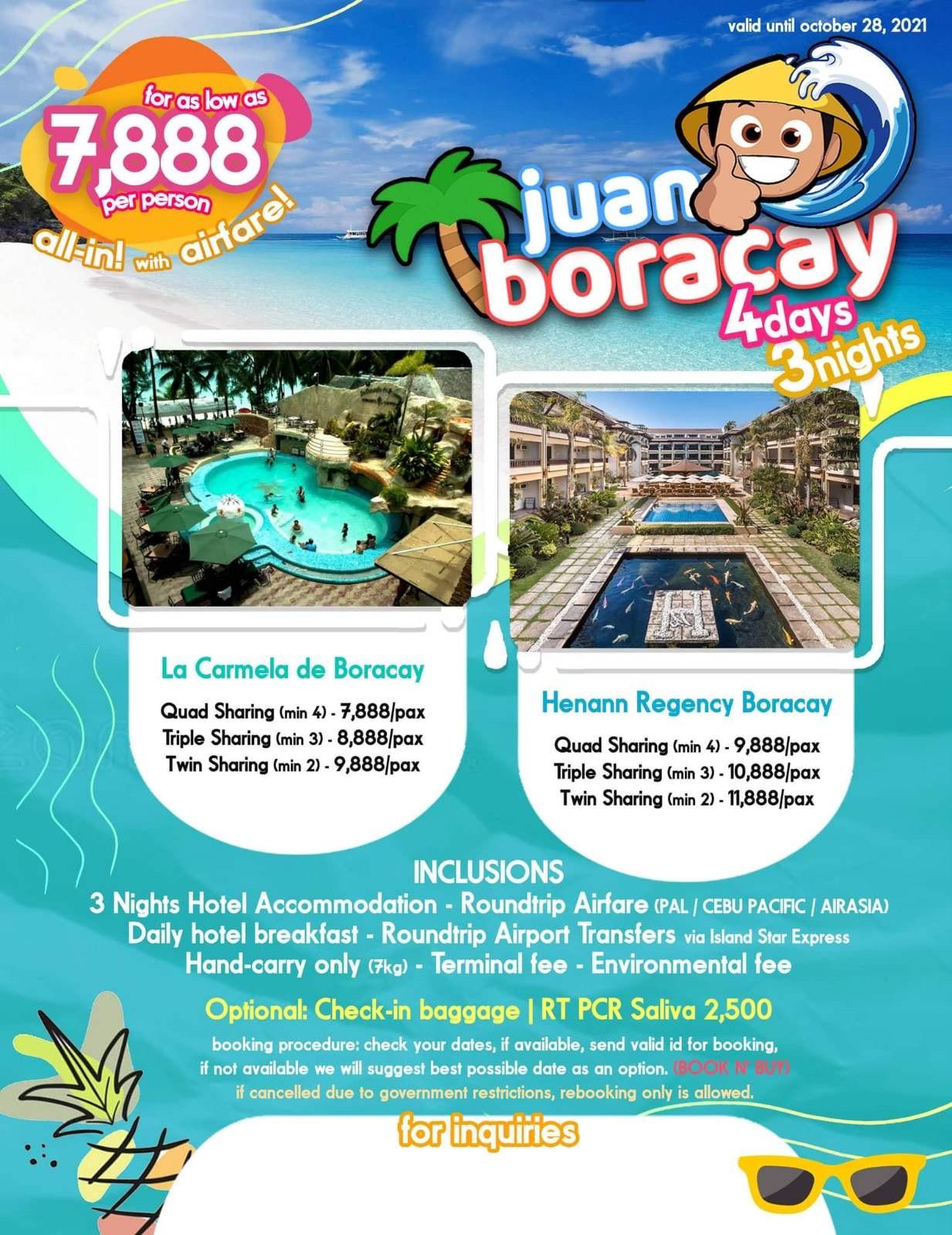 Boracay 4 Days 3 Nights